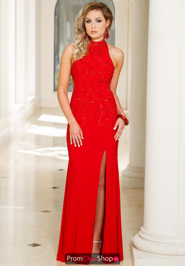 Sean 50962 Open Back Jersey Dress