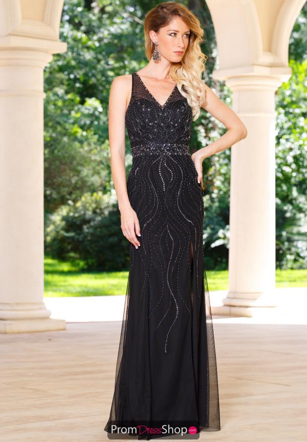 Sean 50964 V-Neck Long Dress