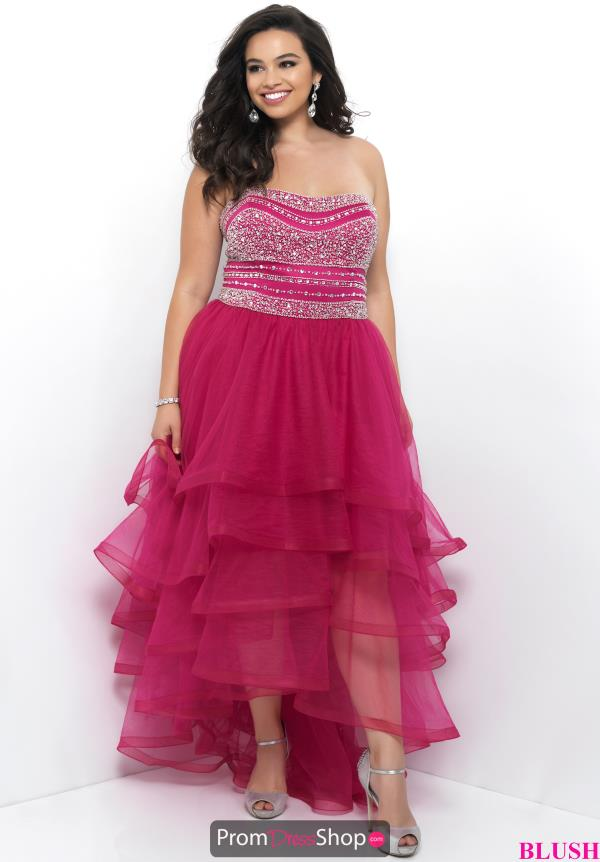Strapless High Low Blush Too Dress 11271W