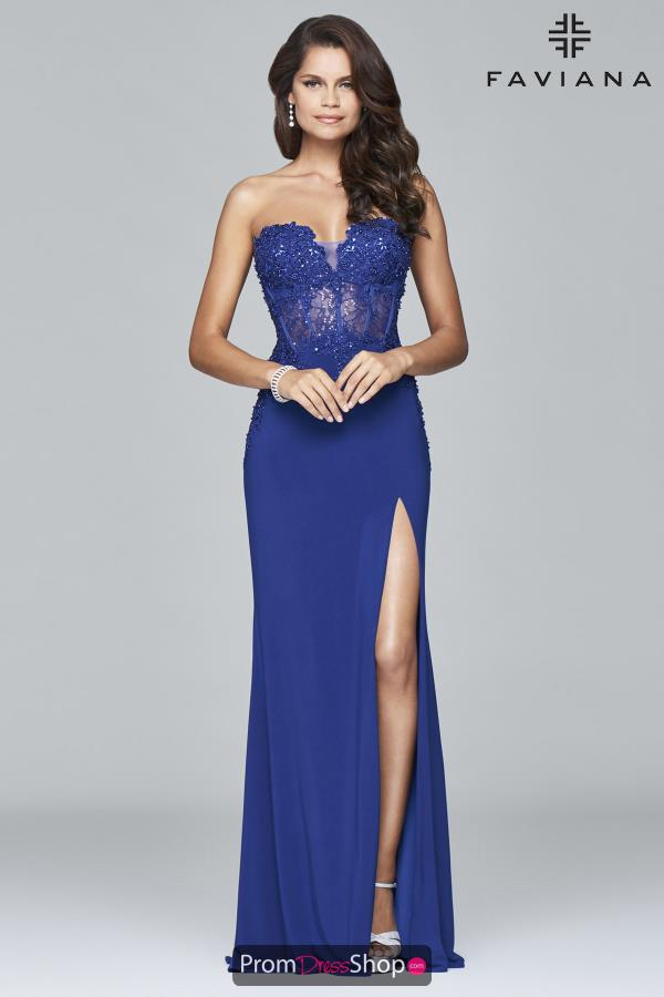 Sweetheart Neckline Fitted Faviana Dress S7907