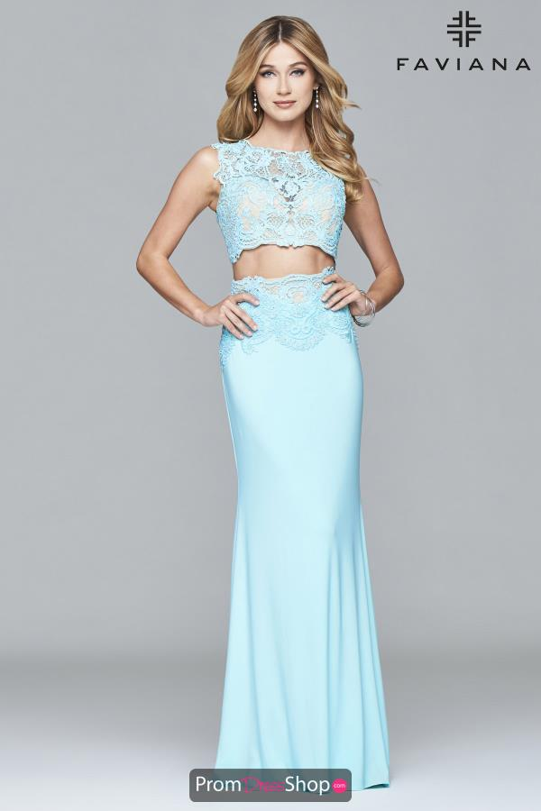 Faviana Long Two Piece Dress S7942