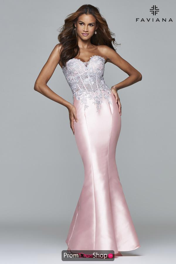 Faviana Long Sweetheart Neckline Dress S7963