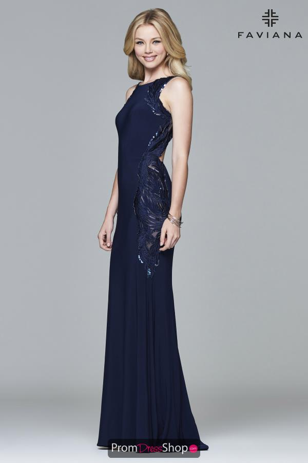 Faviana High Neckline Fitted Dress S8003