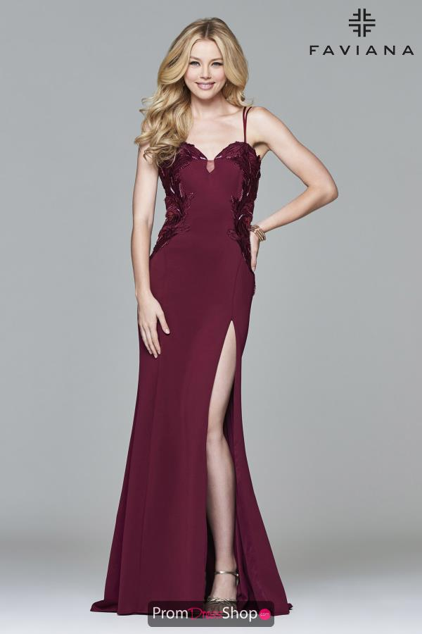 Faviana Long Fitted Dress S8004