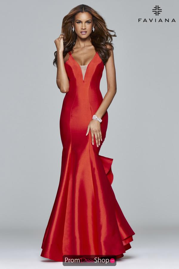 Faviana V Neck Mermaid Dress S7965