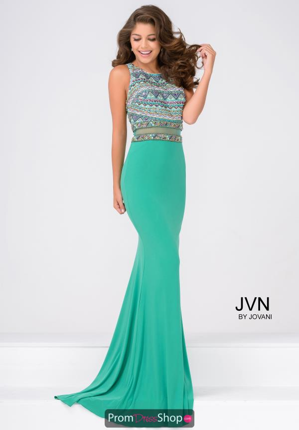 JVN by Jovani Fitted Beaded Dress JVN36888