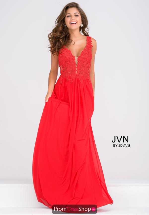 JVN by Jovani Beaded A Line Dress JVN41466