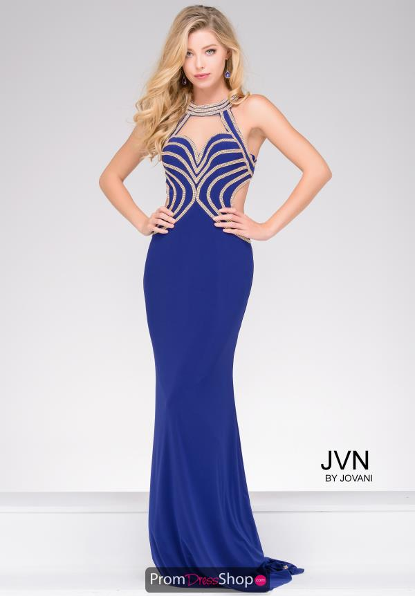 JVN by Jovani Halter Beaded Dress JVN47009