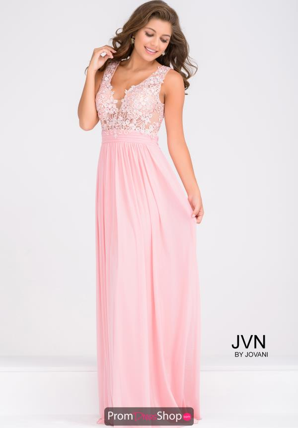 JVN by Jovani Applique A Line Dress JVN47791