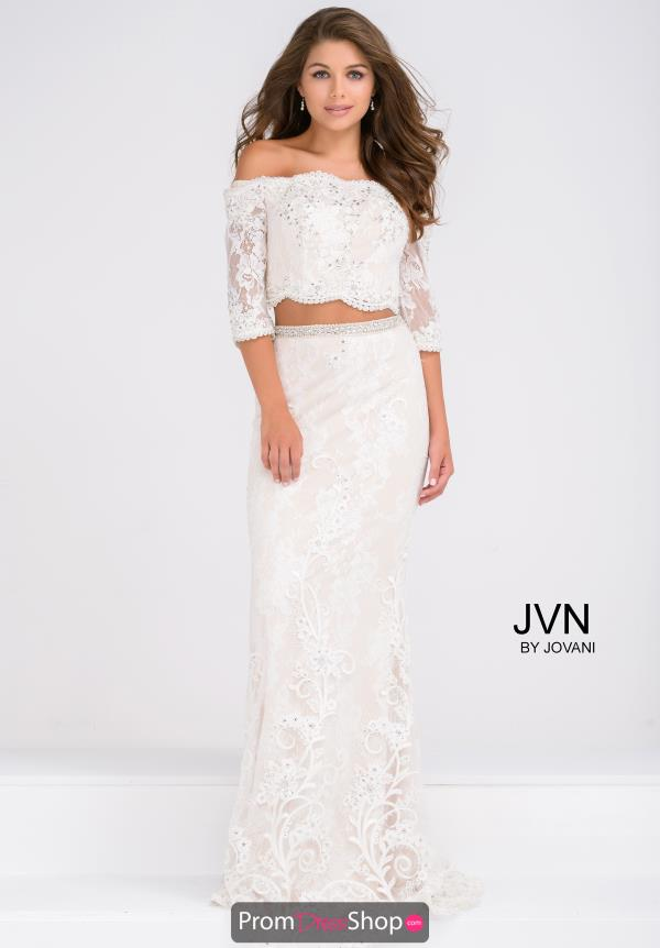 JVN by Jovani Fitted Lace Dress JVN47915