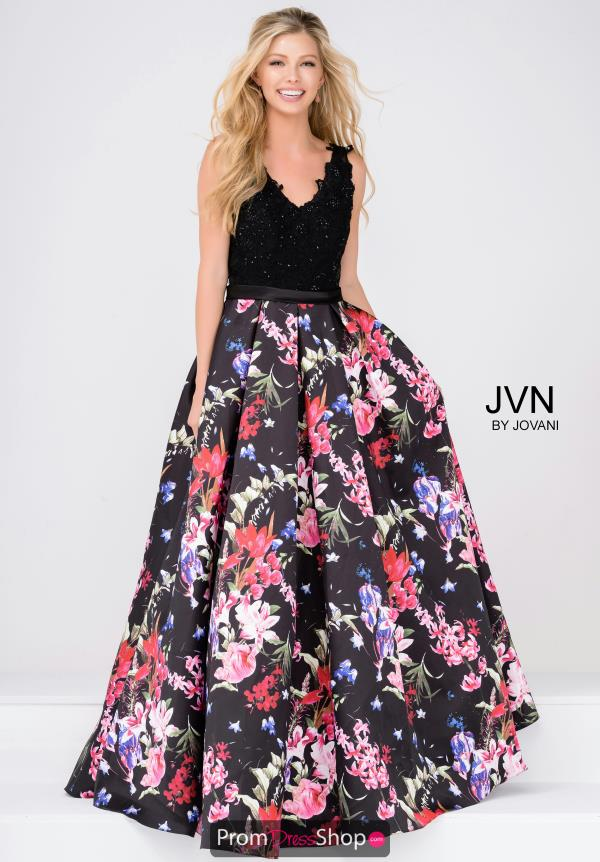 JVN by Jovani V-Neck Long Dress JVN47924