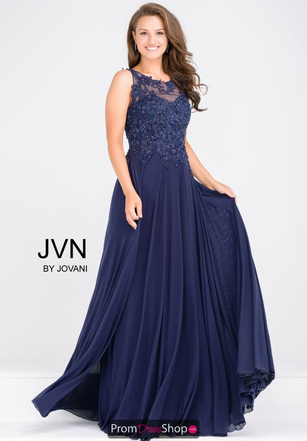 JVN by Jovani Beaded A Line Dress JVN47950
