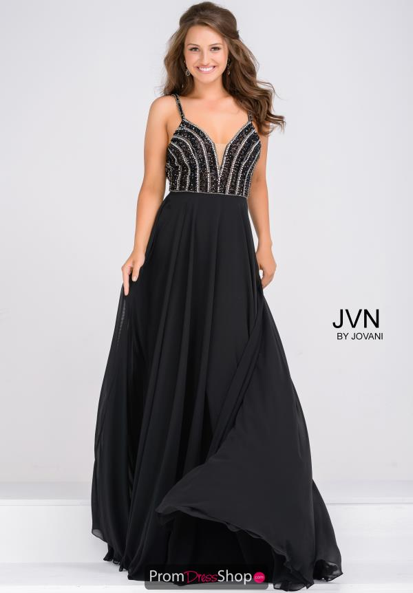 JVN by Jovani Full Figured Chiffon Dress JVN48495
