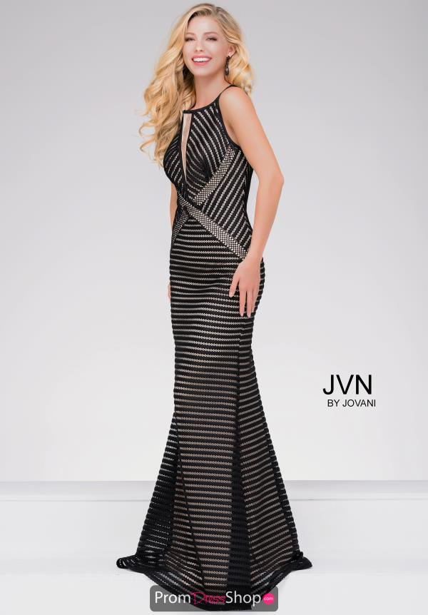 JVN by Jovani Net Fitted Dress JVN48710