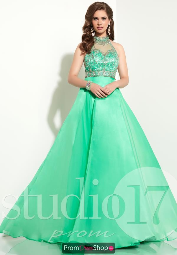 Beaded A Line Studio 17 Dress 12607