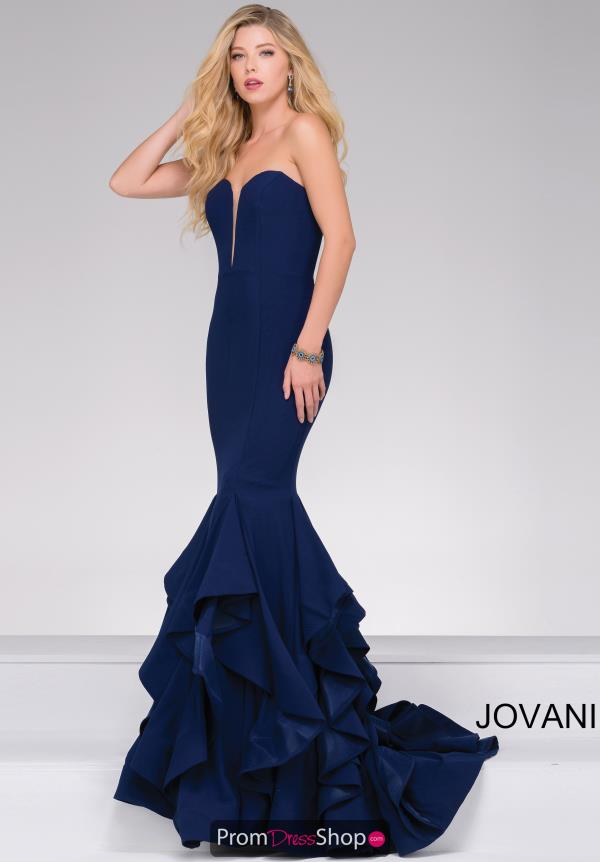 Jovani Long Crepe Dress 31625