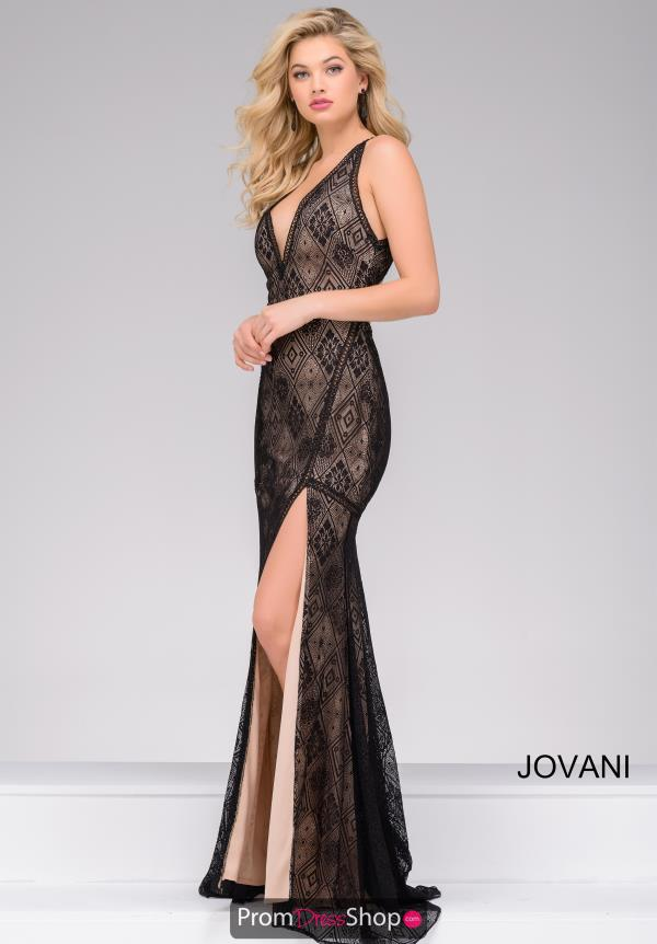 Jovani Long Lace Dress 33939