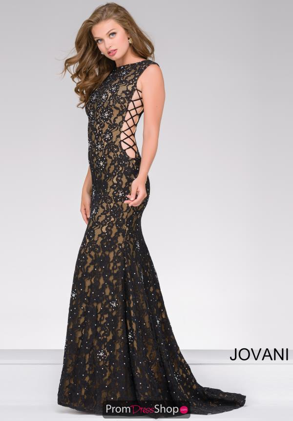 Jovani Long Beaded Dress 37469