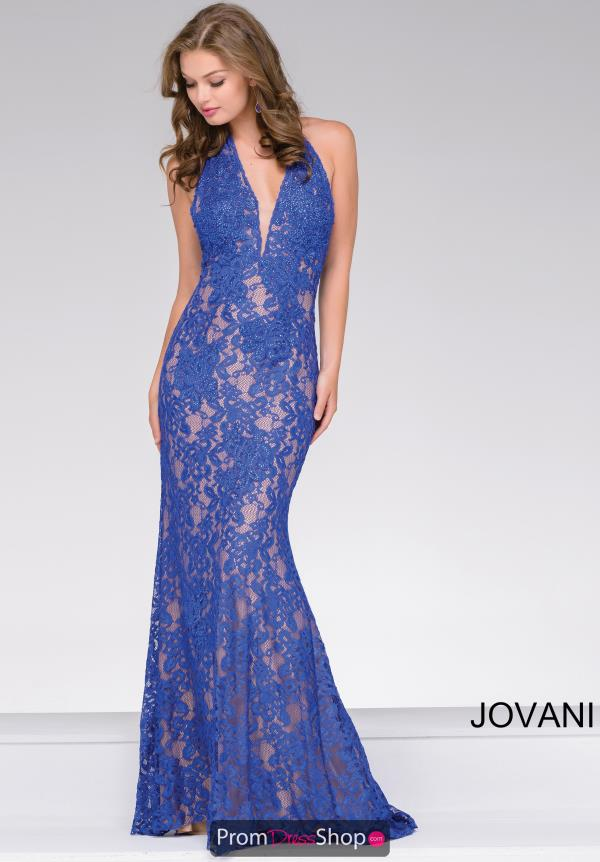 Jovani Long Lace Dress 41248
