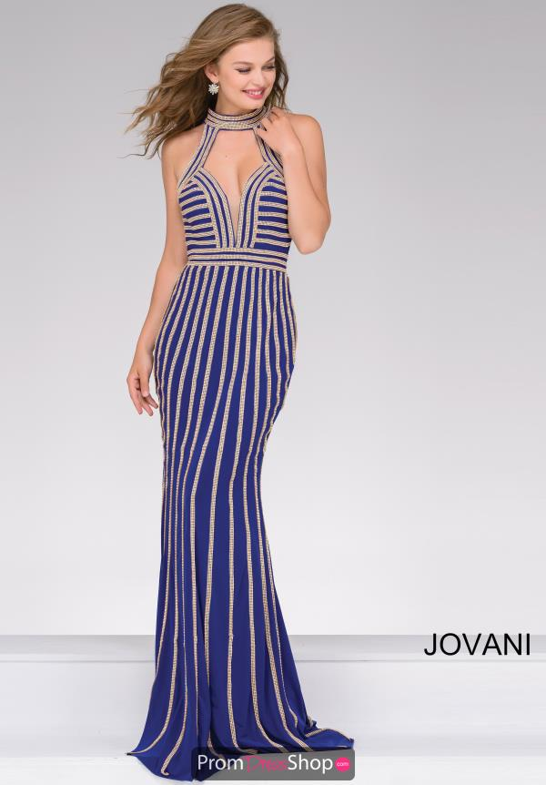 Jovani Fitted Beaded Dress 41350