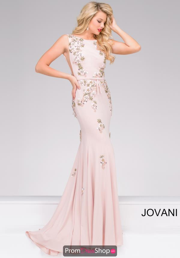 Jovani Fitted Beaded Dress 42296