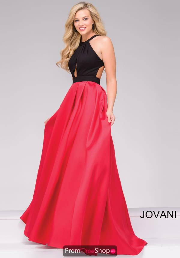 Jovani Long Neoprene Dress 45142
