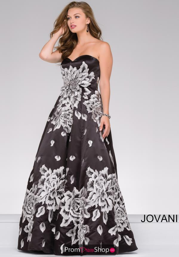 Jovani A Line Beaded Dress 45523