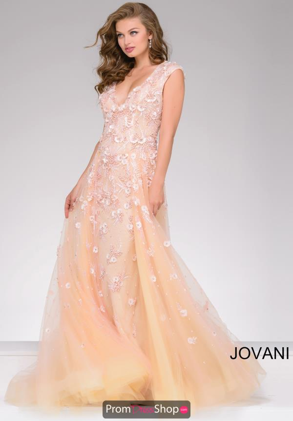 Jovani V-Neckline Dress 45825