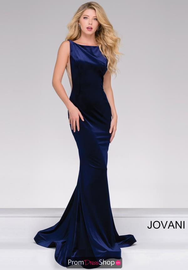 Jovani Fitted Open Back Dress 46060