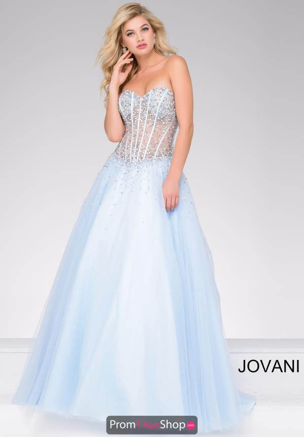 Jovani Tulle Ball Gown Dress 47131