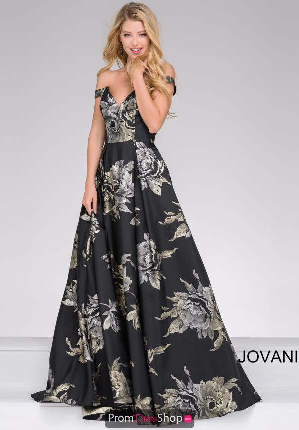 Jovani Full Figured Satin Dress 48361