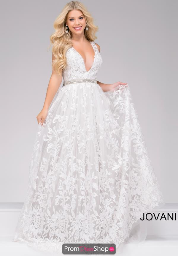 Jovani A Line Beaded Dress 48430
