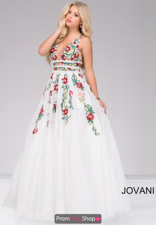 Jovani Long Beaded Dress 48891