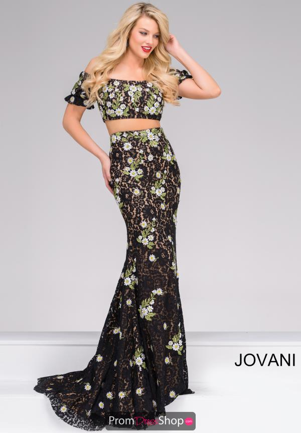 Jovani Fitted Beaded Dress 48898