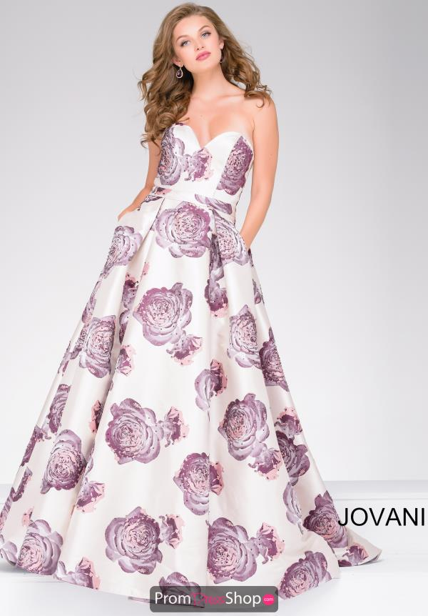Jovani Full Figured Beaded Dress 48924