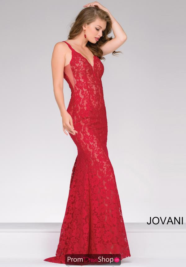 Jovani Long Beaded Dress 48994