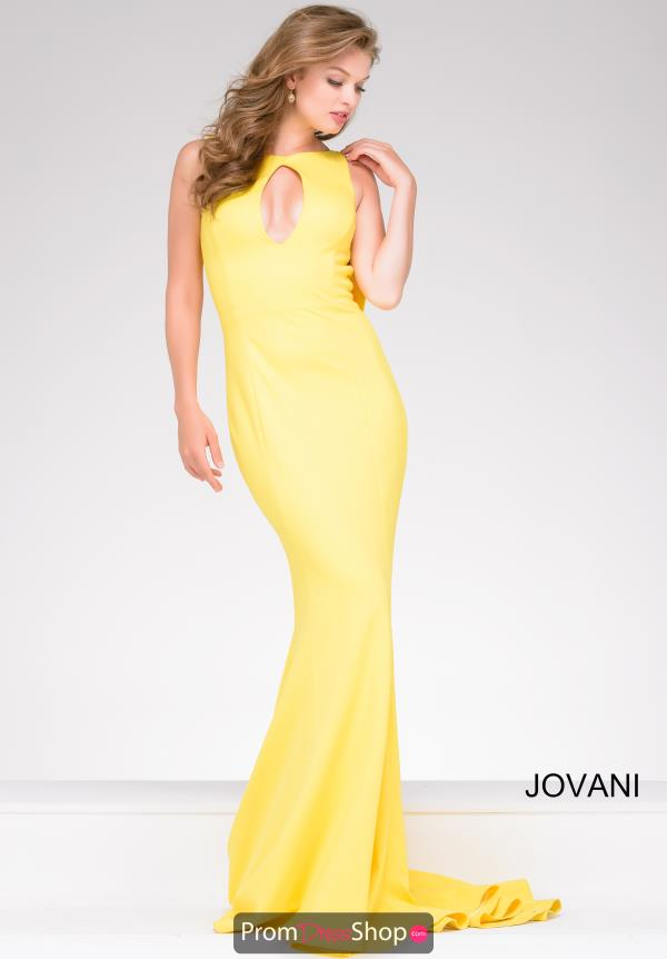 Jovani High Neckline Long Dress 49420