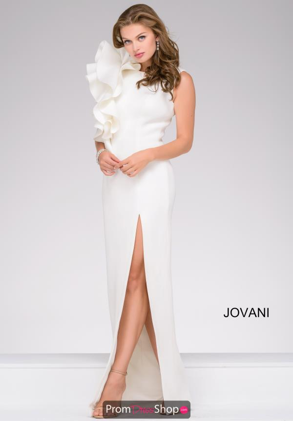 Jovani High Neckline Long Dress 49868