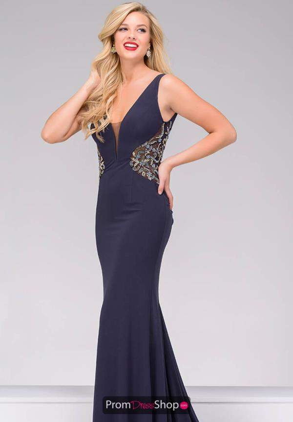 Jovani Long Jersey Dress 49947