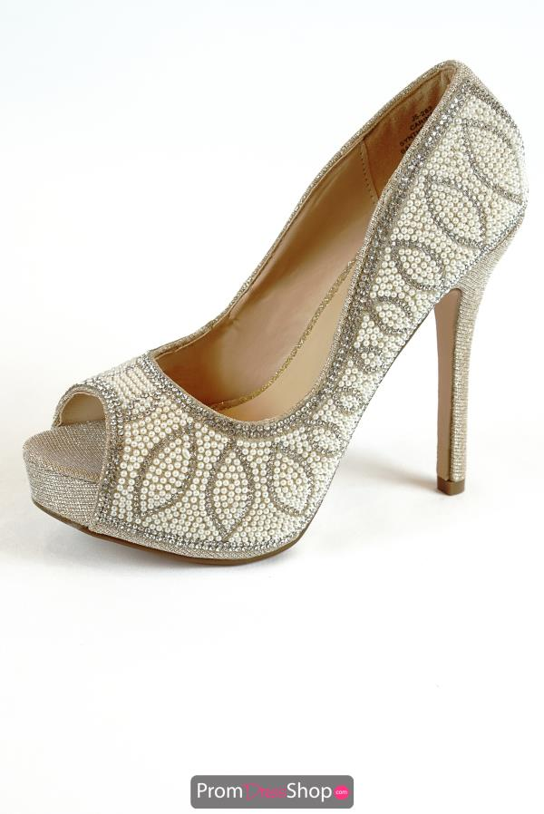 Blossom Footwear Style Carina-9 Pearl studded Heels