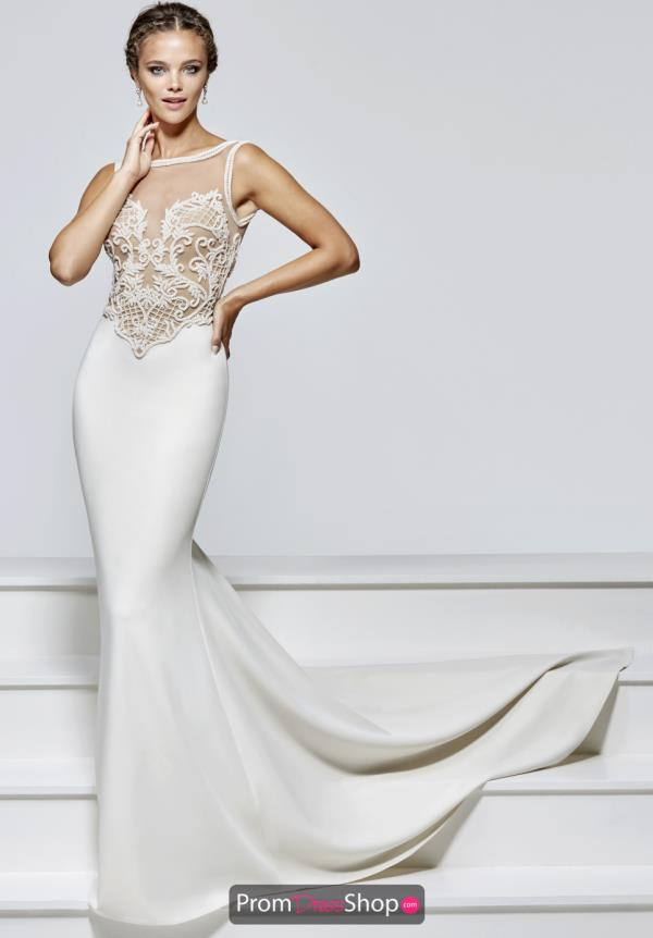 Tarik Ediz Fitted Beaded Dress 93150