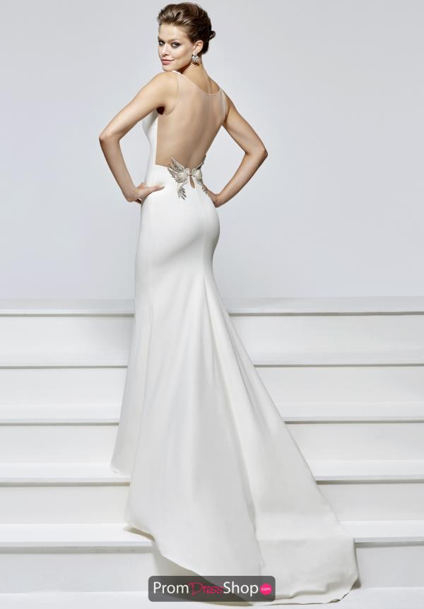 Tarik Ediz Sexy Back Beaded Dress 93152