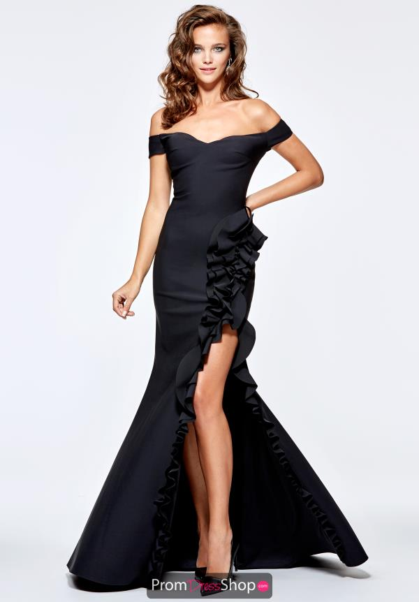Tarik Ediz Strapless Fitted Dress 93168