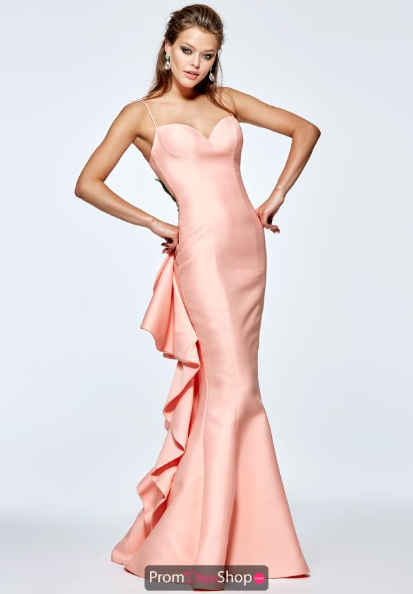 Tarik Ediz Long Taffeta Dress 93177