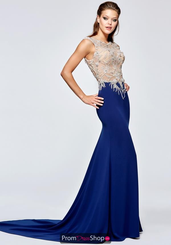 Tarik Ediz High Neckline Long Dress 93194