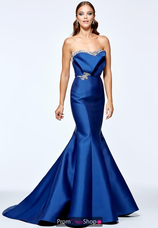 Tarik Ediz Strapless Mermaid Dress 93196