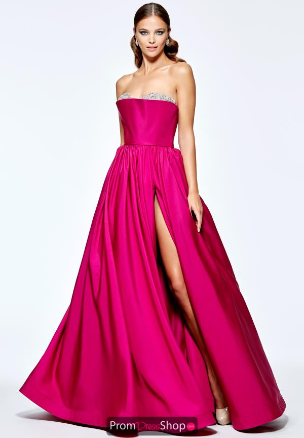 Tarik Ediz Strapless A Line Dress 93202