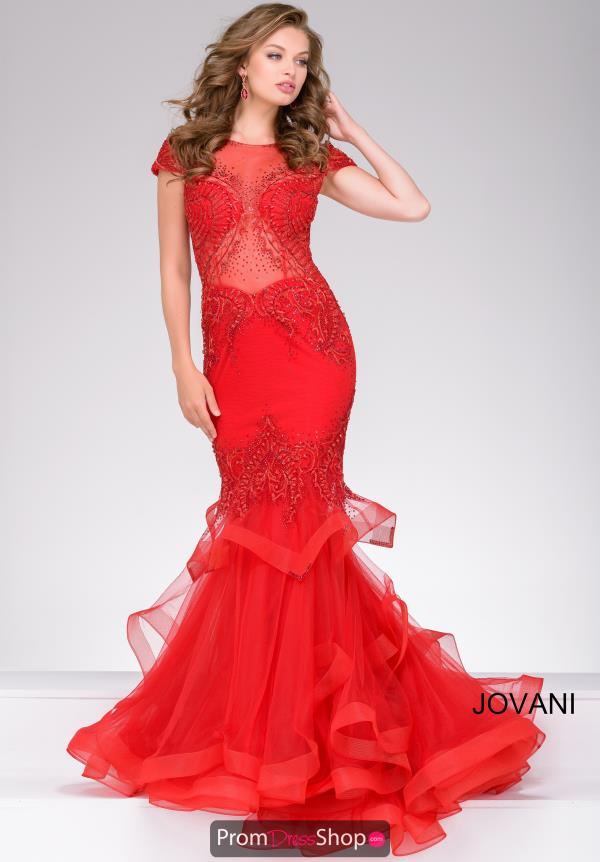 Jovani Cap Sleeve Mermaid Dress 47927