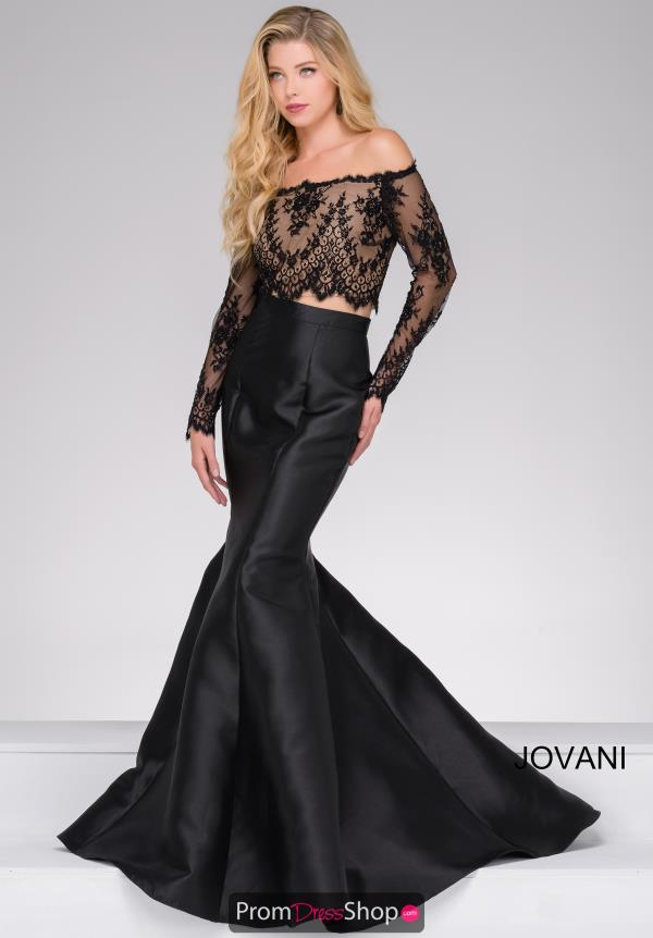 Jovani 48695 Long Sleeve Mermaid Dress