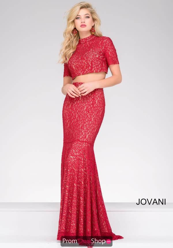 Jovani Fitted Two Piece Dress 49212